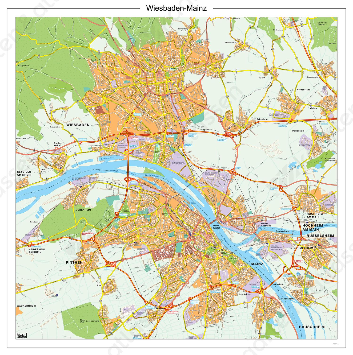 Digitale kaart Wiesbaden-Mainz 177
