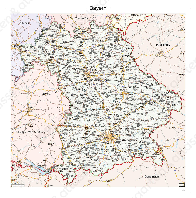 Digitale Kaart Bayern 114 Kaarten En Atlassen Nl
