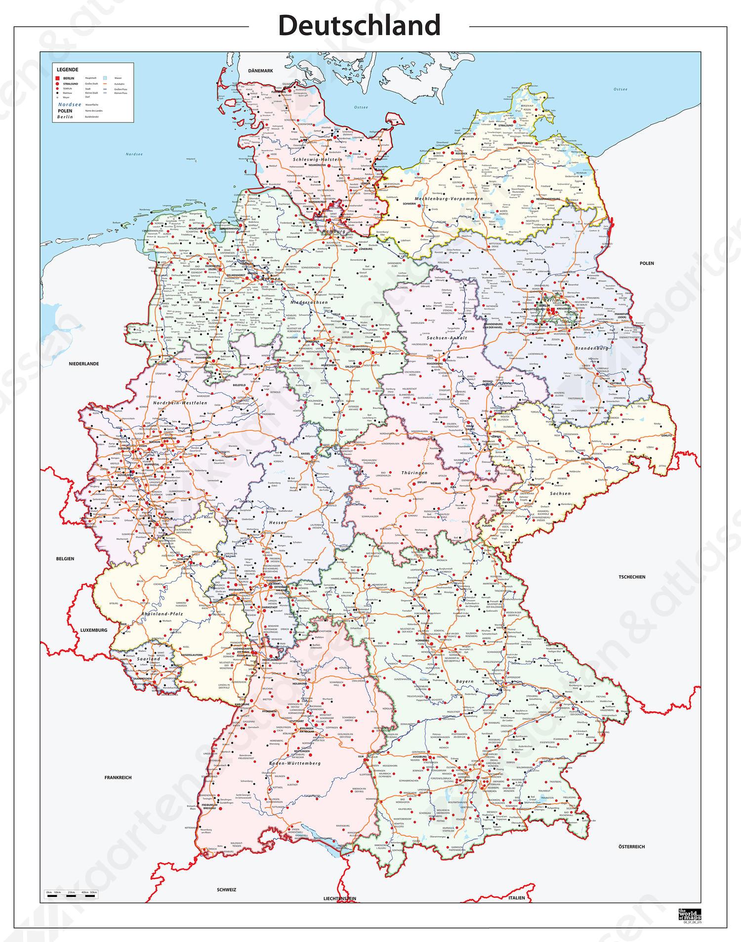 Kaart Duitsland 275 Kaarten En Atlassen Nl