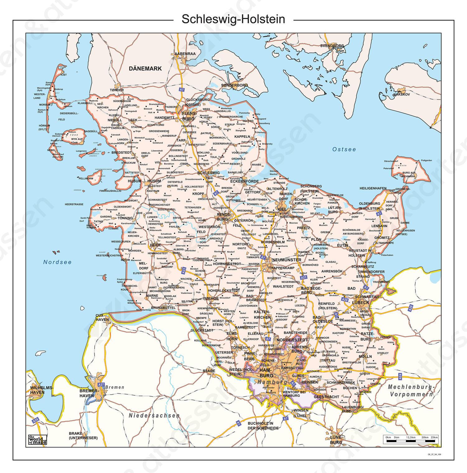 Digitale kaart Schleswig-Holstein 109
