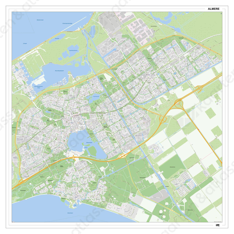 Digitale Kaart Almere