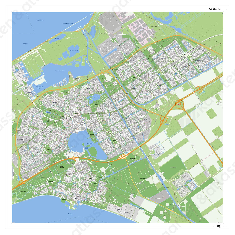 Kaart Almere