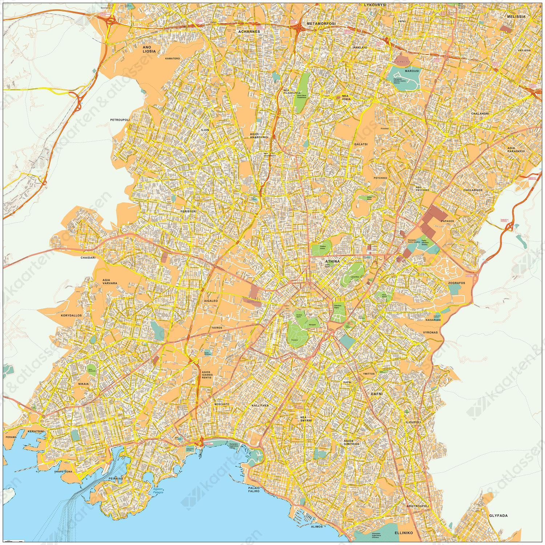 Digitale kaart Athene / Athens 466