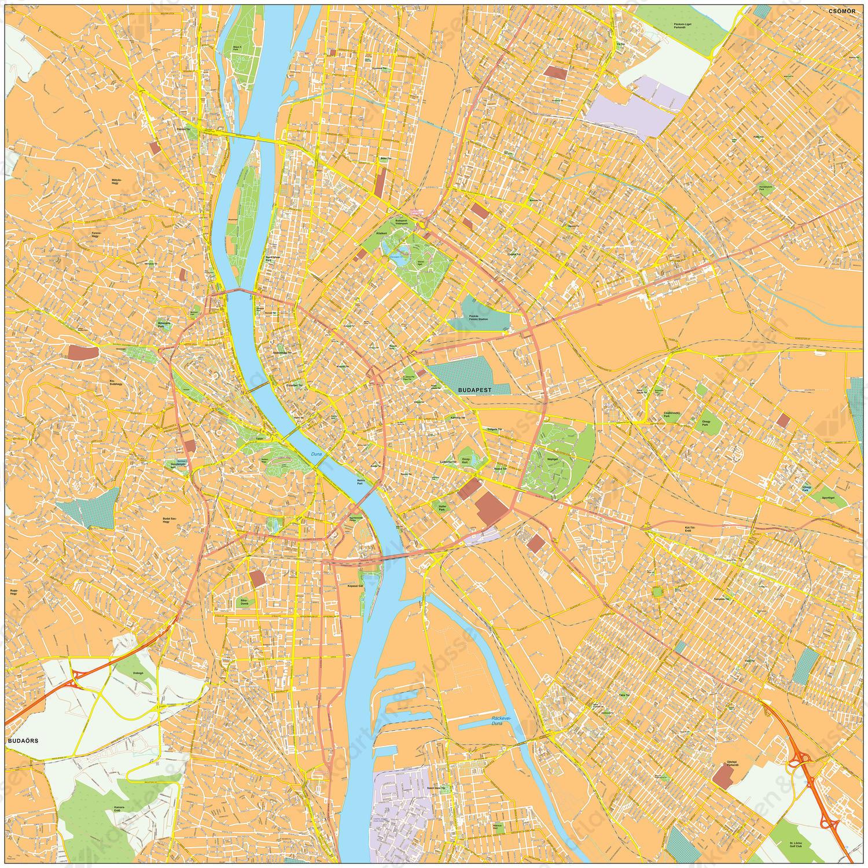 Digitale kaart Boedapest / Budapest 472