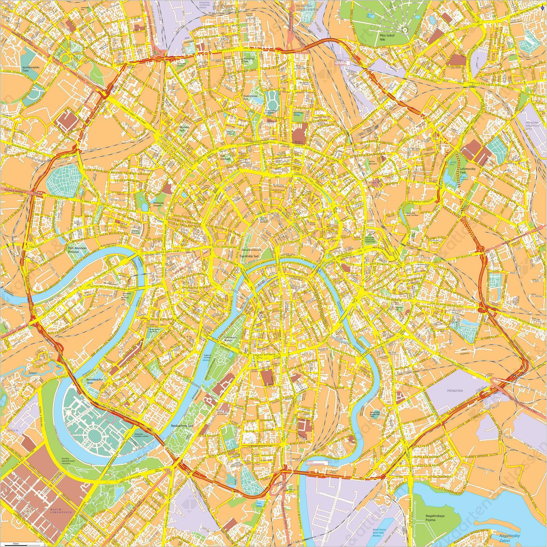 Digitale kaart Moskou / Moscow 769
