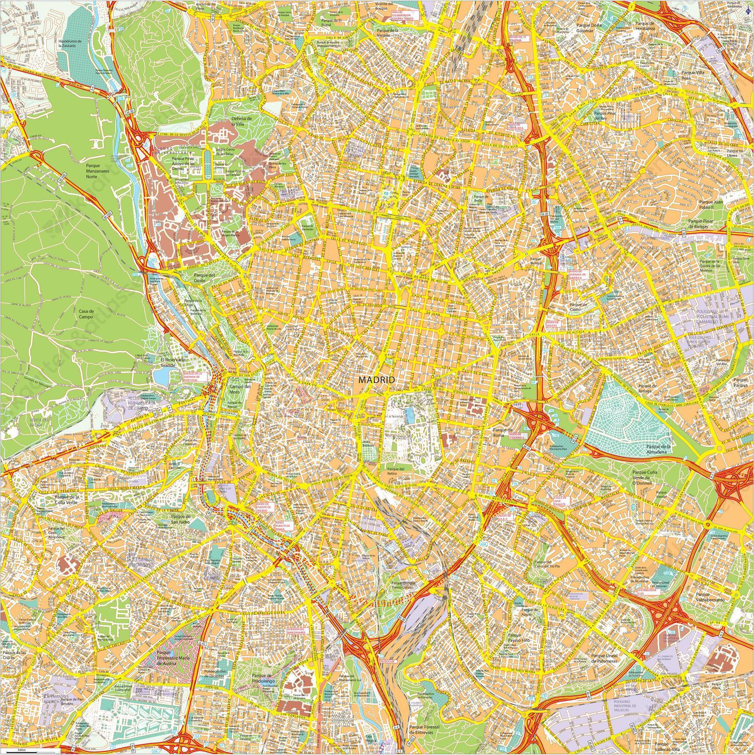 Digitale stadsplattegrond Madrid 773