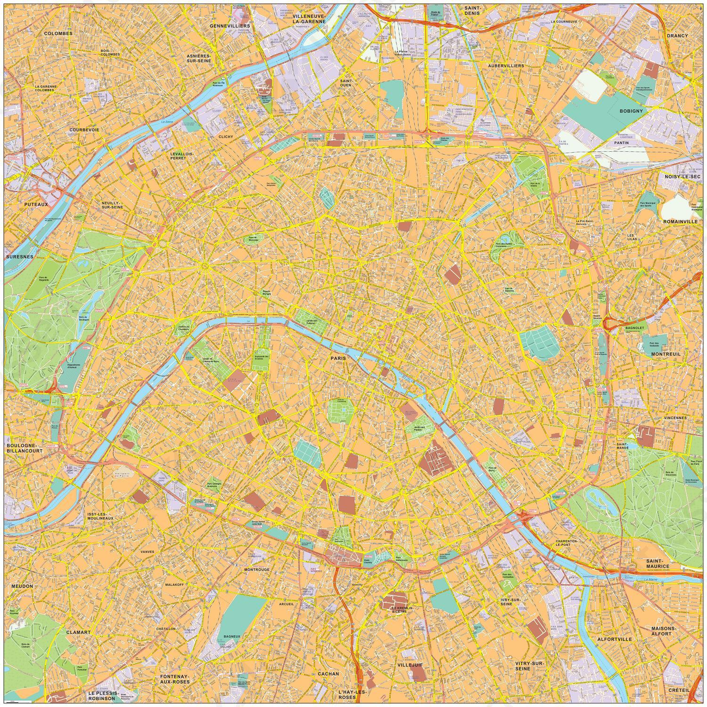 Digitale kaart Parijs / Paris 488