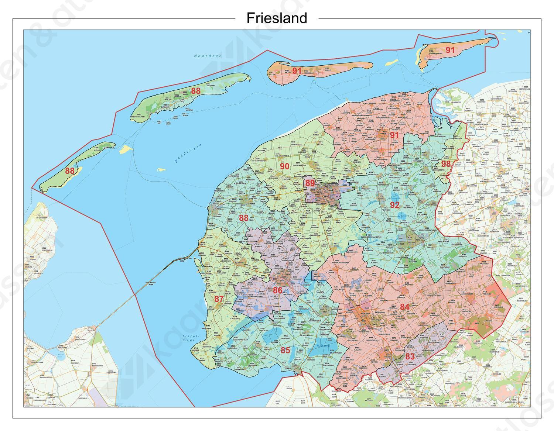 Digitale Postcodekaart Provincie Friesland 619