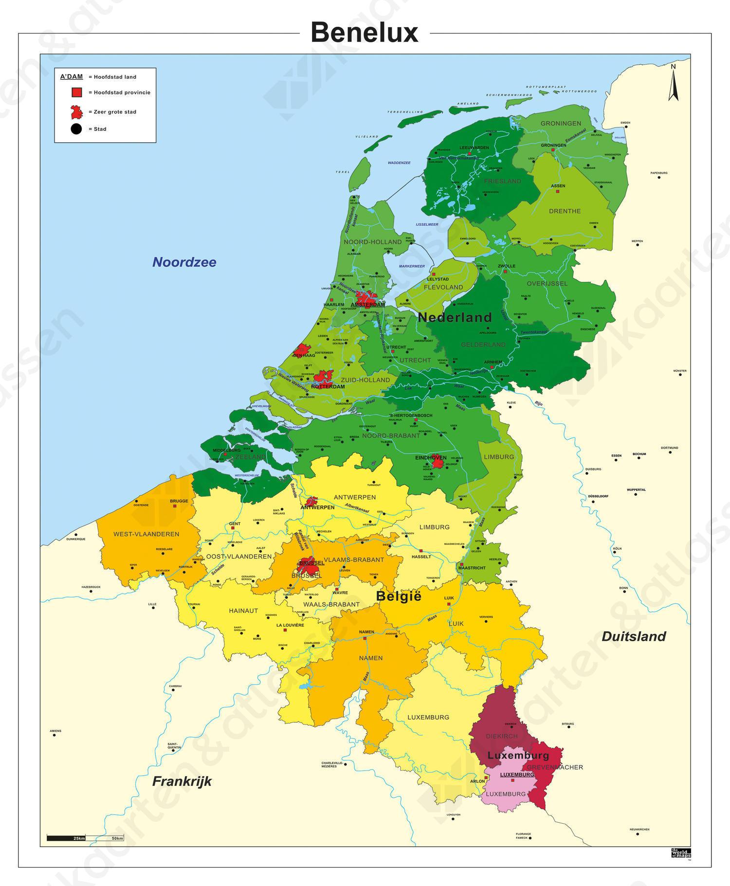 Digitale Schoolkaart Benelux 782 Kaarten En Atlassen Nl