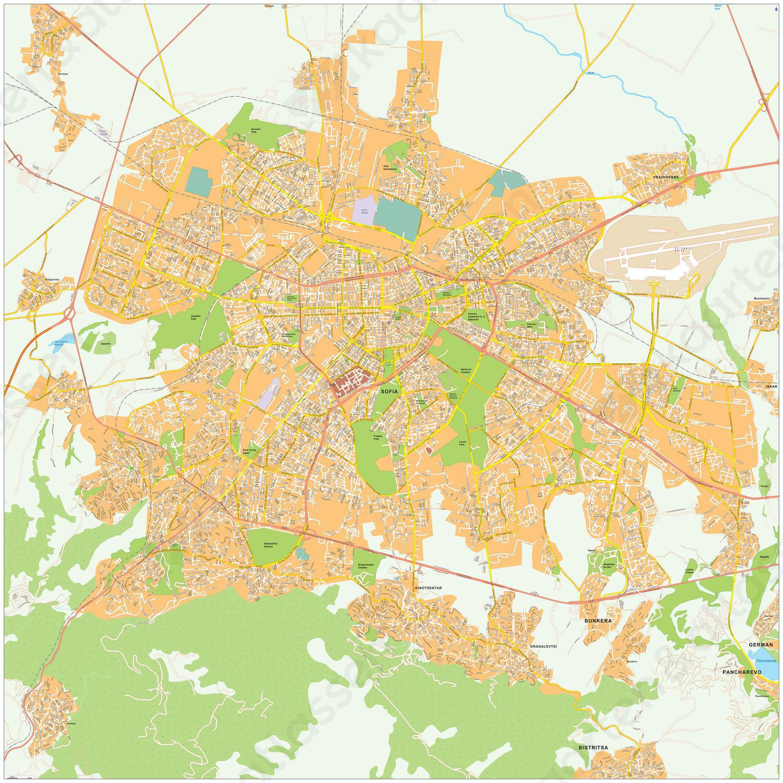 Digitale kaart Sofia 495