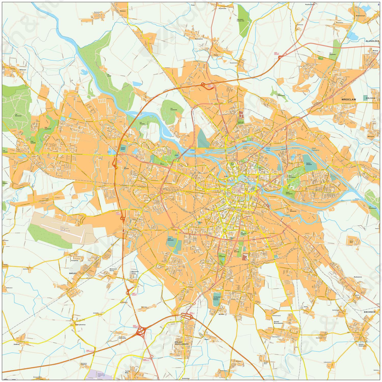 Digitale kaart Wroclaw 501