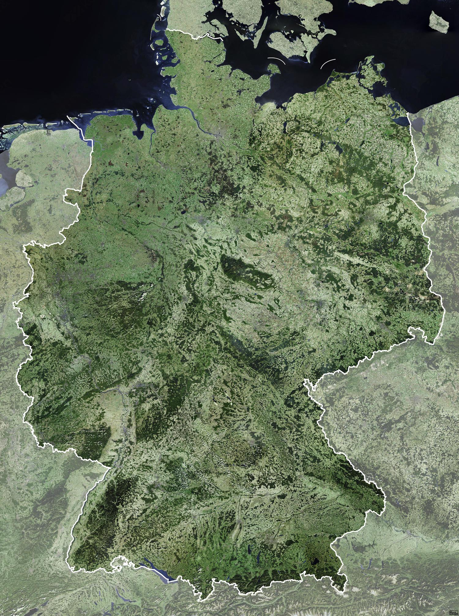 Satellietkaart Duitsland