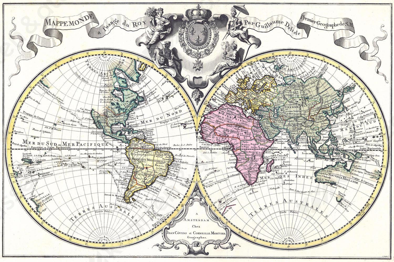 historische wereldkaart