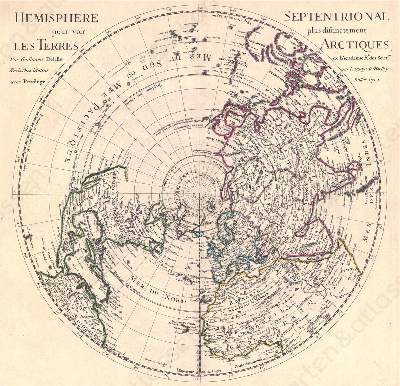 Wereldkaart Delisle