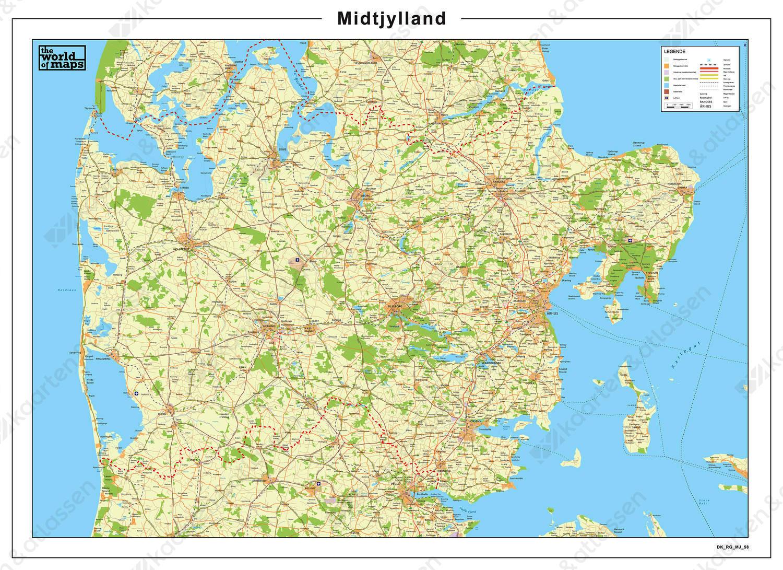 Digitale Kaart Midtjylland 58