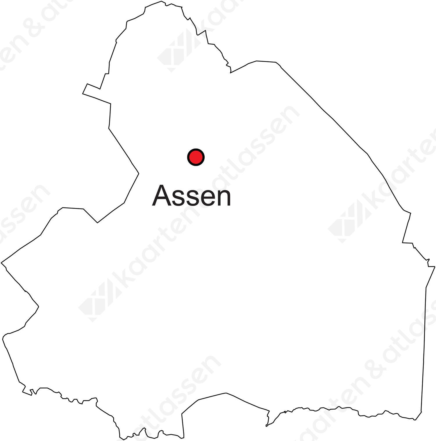 drenthe kaart Digitale provinciekaart van Drenthe (gratis) | Kaarten en Atlassen.nl