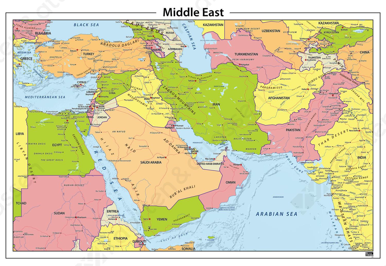 Midden Oosten staatkundige kaart