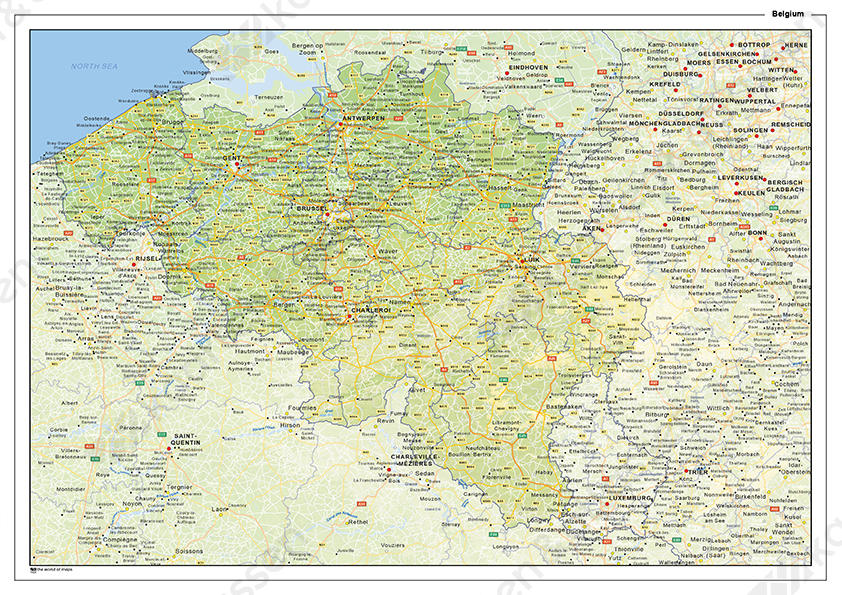 Natuurkundige landkaart België