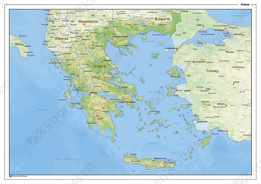 Natuurkundige Landkaart Griekenland 1435 Kaarten En Atlassen Nl