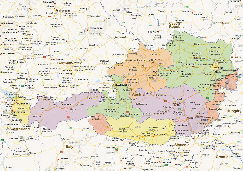kaart duitsland oostenrijk Kaart Duitsland Oostenrijk | Kaart