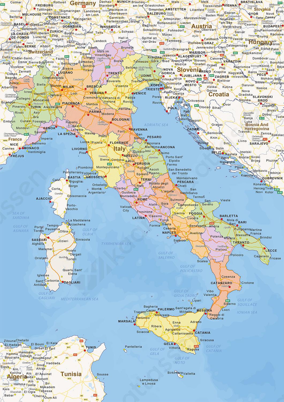 U Uu Uu >> Staatkundige landkaart Italië 1444 | Kaarten en Atlassen.nl