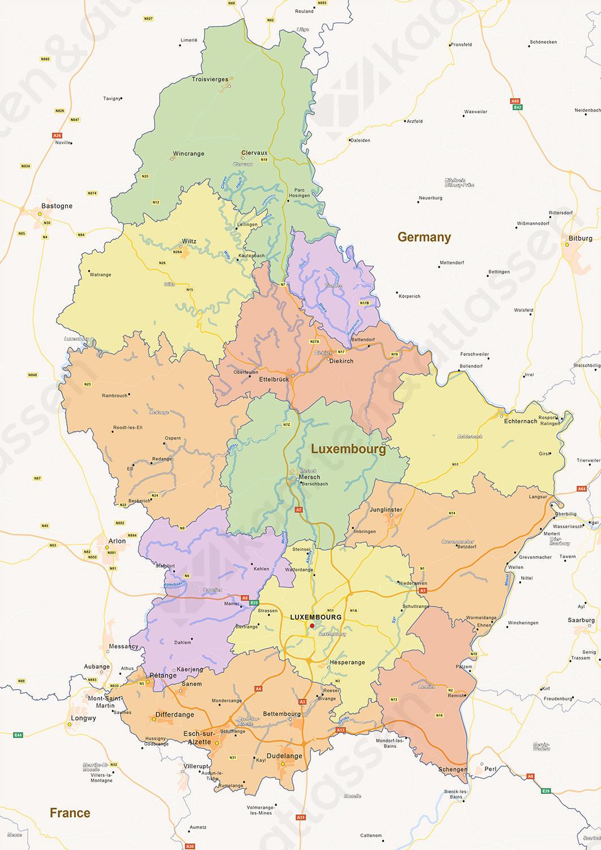 kaart luxemburg land Kaart Luxemburg   doormelle