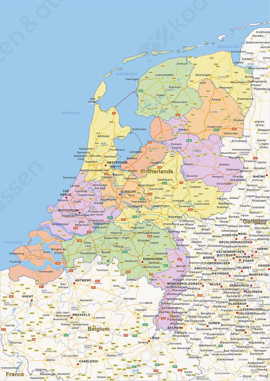 Digitale Staatkundige Landkaart Nederland 1452 Kaarten En