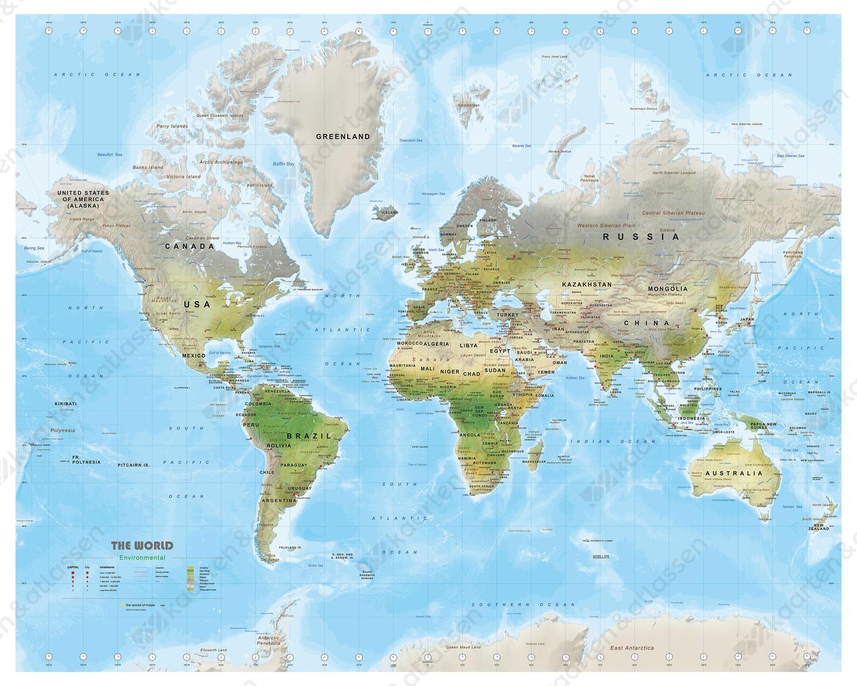 wereldkaart environmental