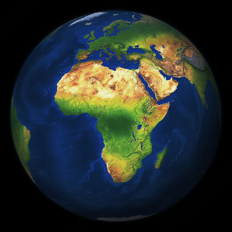 Digitale Wereldbol Afrika 546