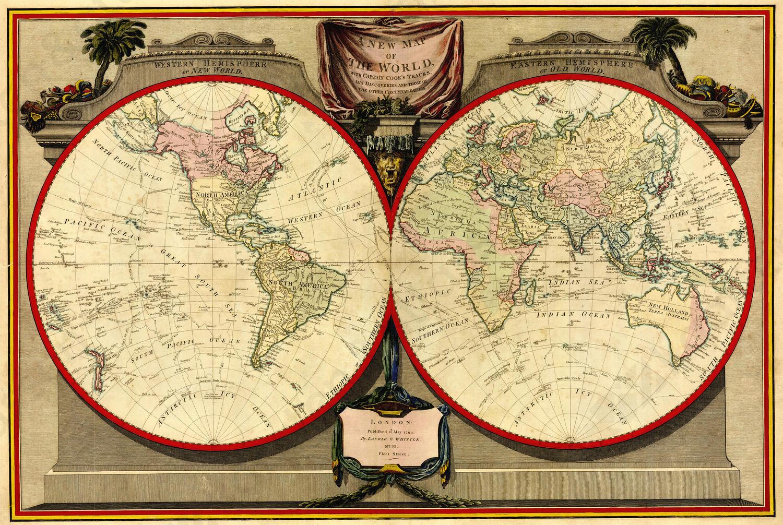 Wereldkaart Lauri en Whittle