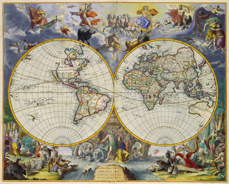 Digitale Wereldkaart Johannes de Ram