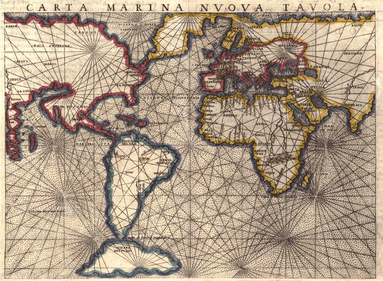 Wereldkaart Girolamo Rusceli
