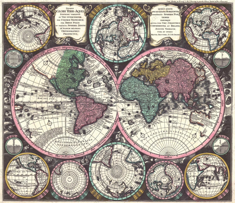 Wereldkaart Matthaeus Seutter