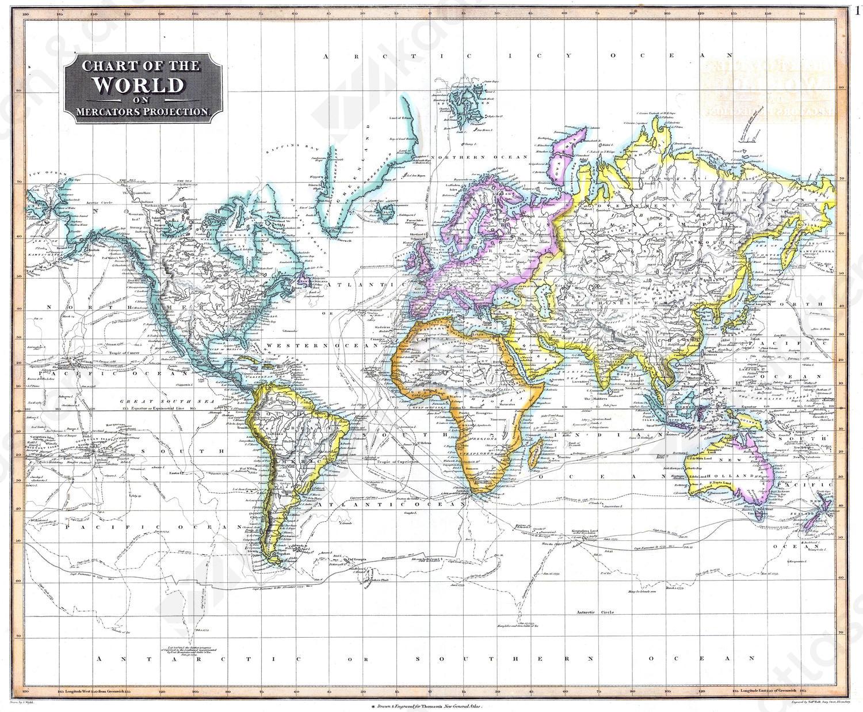 Digitale Wereldkaart John Thomson