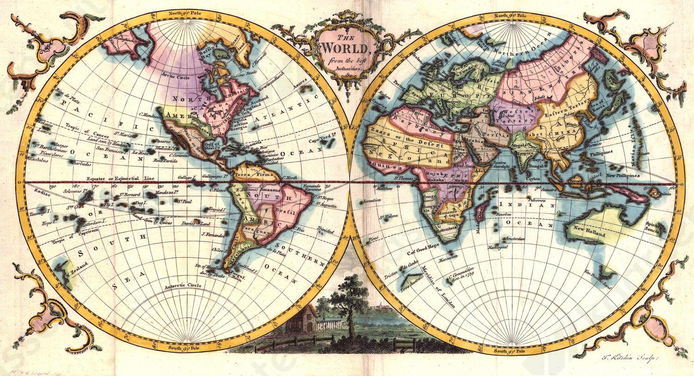 Wereldkaart Kitchin