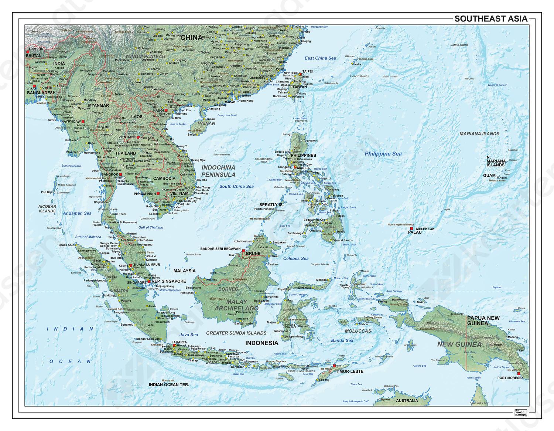 Zuidoost Azië natuurkundig 1309