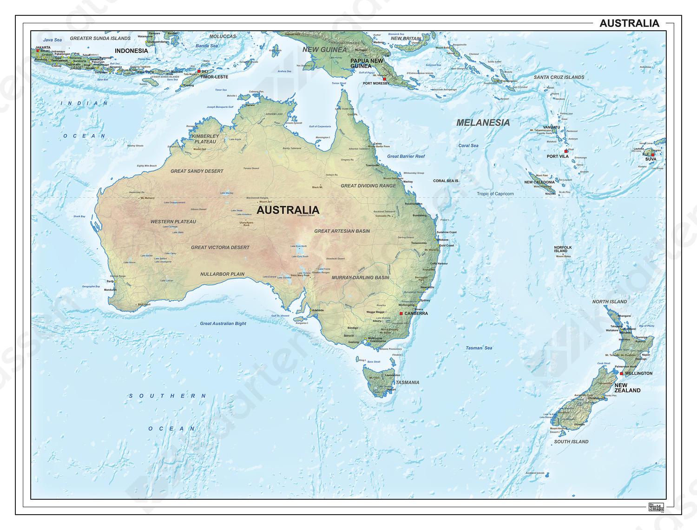 Digitale Australië natuurkundig 1310