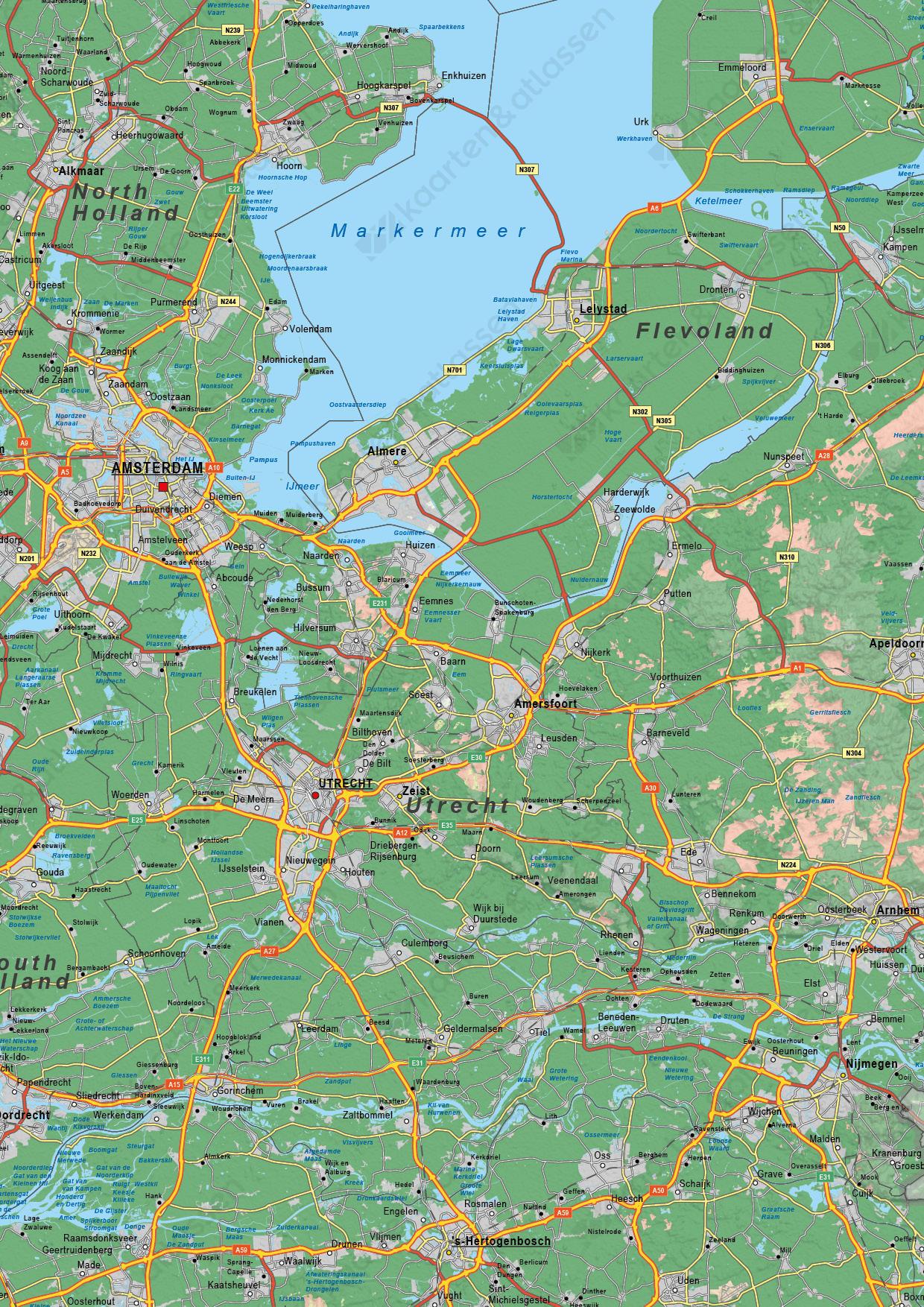 Digitale Nederland Kaart Natuurkundig