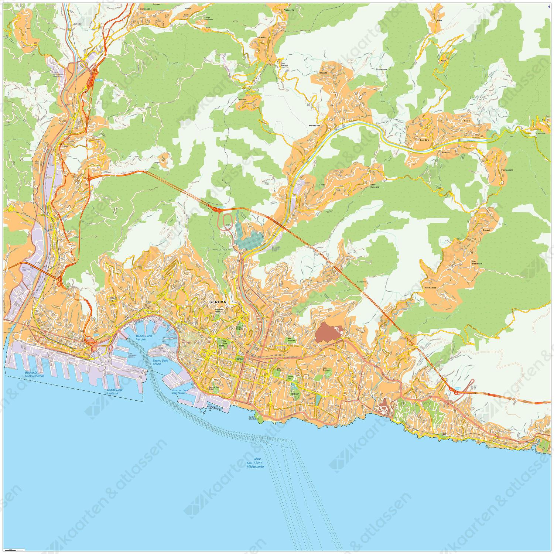 Digitale kaart Genua / Genoa 475