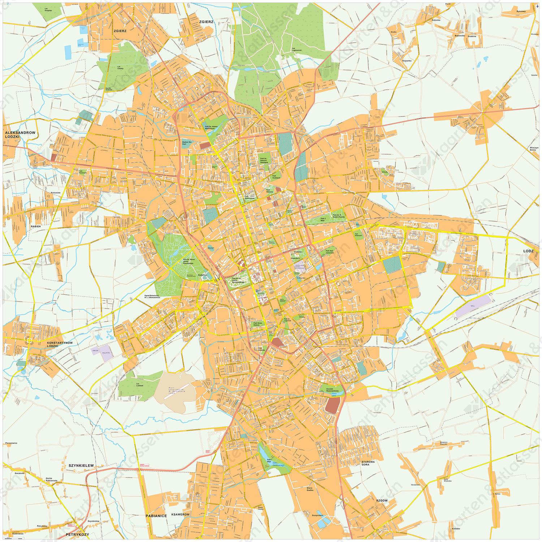 Digitale kaart Lodz 481