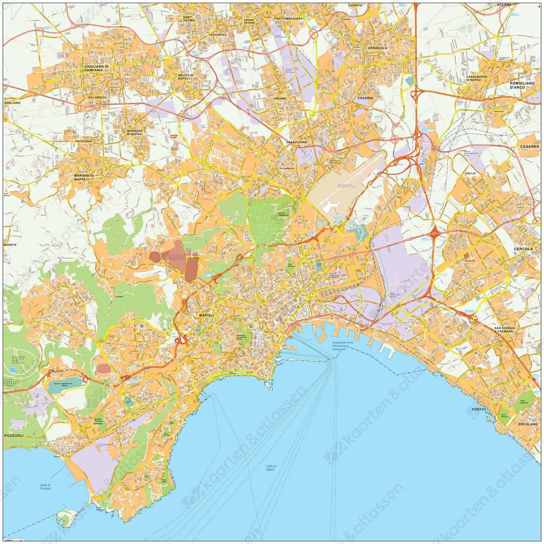 Digitale kaart Napels / Naples 486