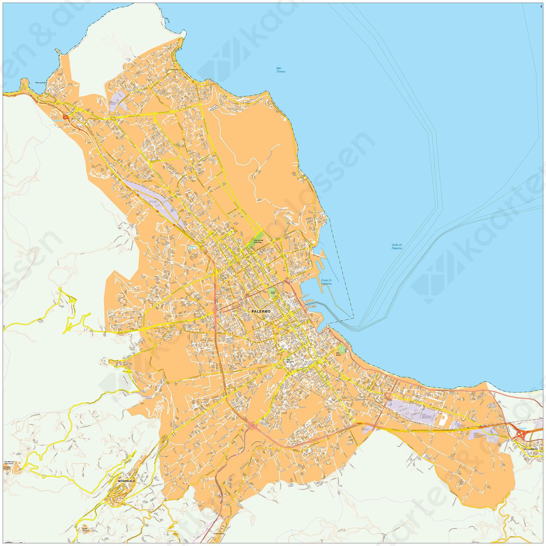 Digitale kaart Palermo 487