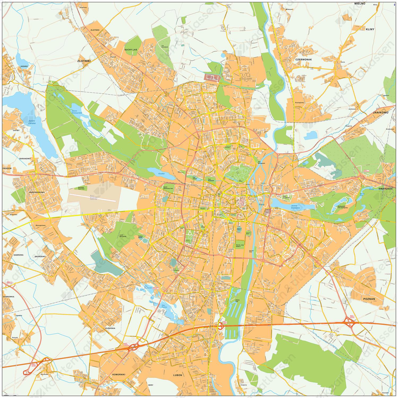 Digitale kaart Poznan 489