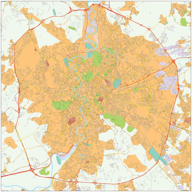 Digitale kaart Rome 492