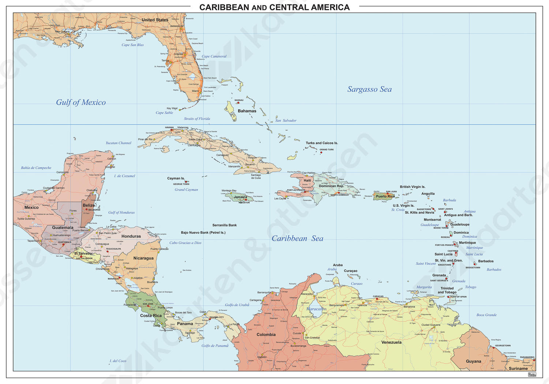 Digitale Kaart Centraal Amerika/Caraïben 831