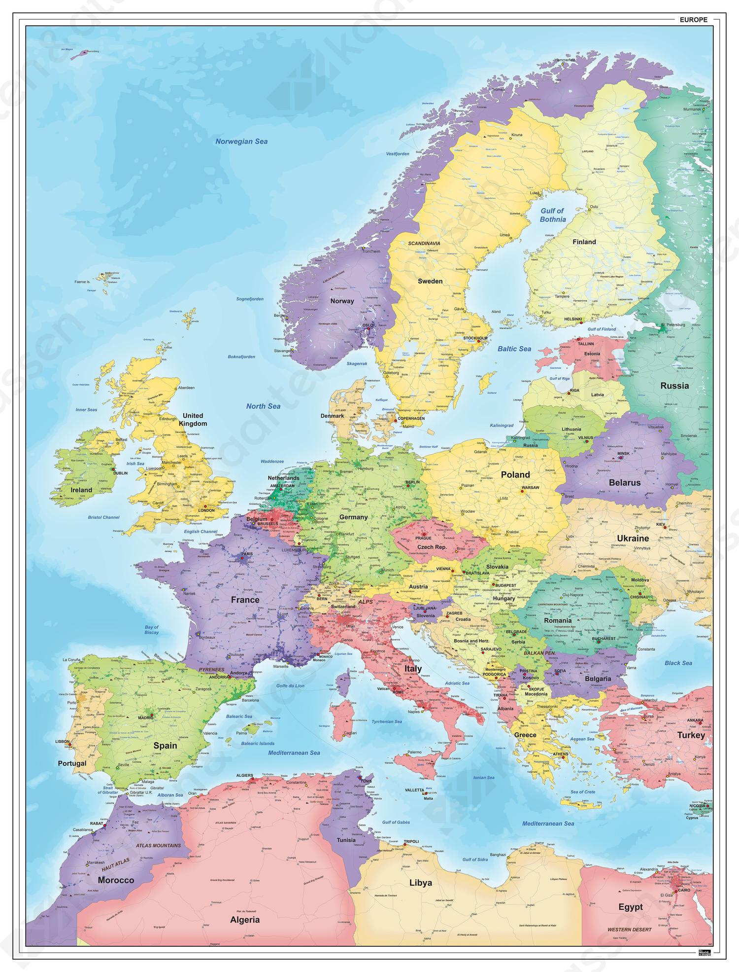 Europakaart 841 Kaarten En Atlassen Nl