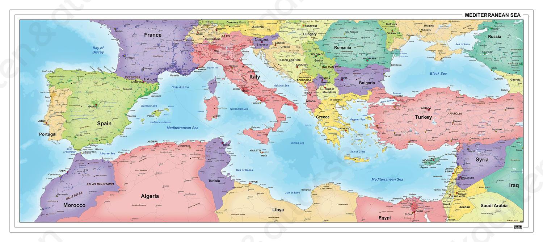 Landen rondom de Middellandse Zee
