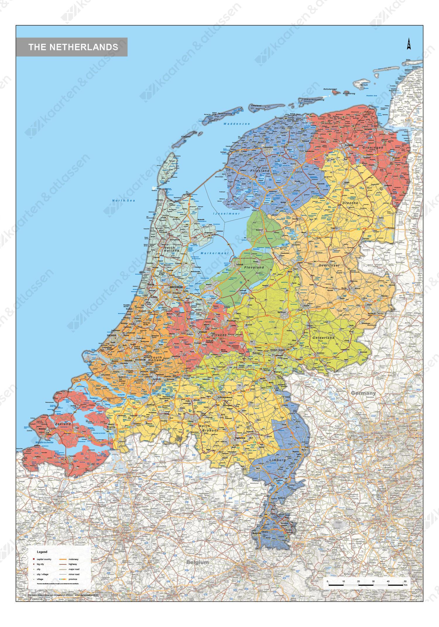 Digitale Nederland Kaart Staatkundig 1566 Kaarten En Atlassen Nl