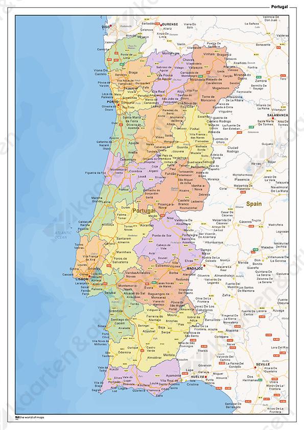 Staatkundige Landkaart Portugal 1460 Kaarten En Atlassen Nl