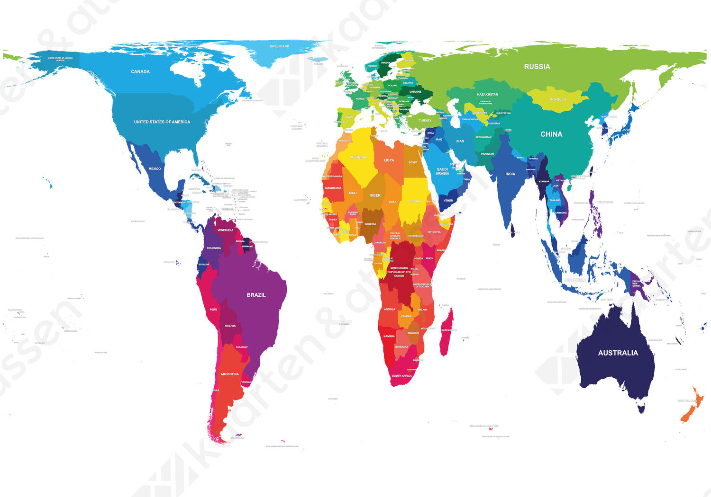 Wereldkaart Gall Petersen